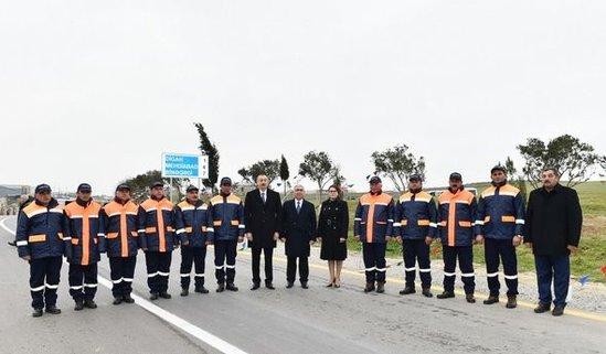 İlham Əliyev avtomobil yolunun açılışında – FOTO