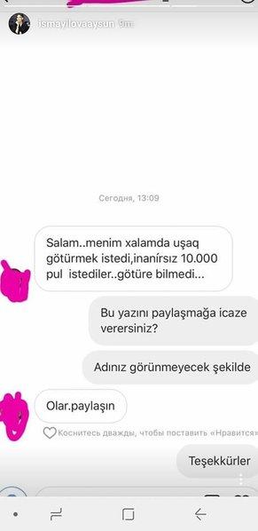 """Aysun baş həkimlə bağlı şok faktları açıqladı: """"Uşaq götürmək üçün 10 min manat pul istədi"""" - FOTOFAKT"""