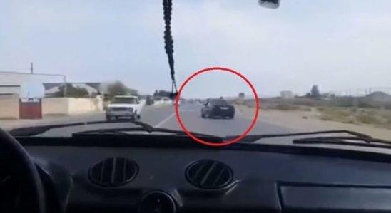 Azərbaycanda sürücü öz ölümünü kameraya çəkdi - VİDEO