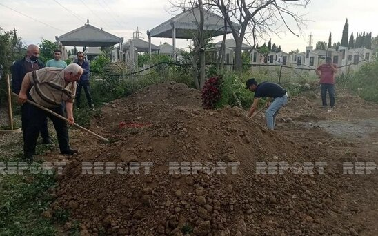 Aslan Huseynov defn edildi - Fotolar