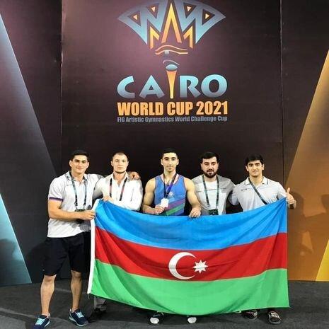 Azerbaycanli gimnast Dunya Kubokunda gumush medal qazanib - FOTO