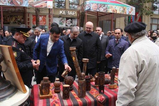 Gencede Nizami Gencevinin 880 illiyine hesr olunan tedbir kecirildi - FOTOLAR