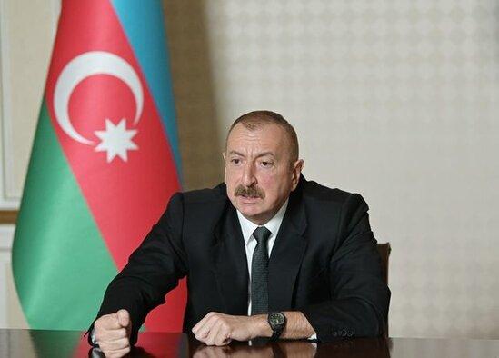 """Azerbaycan Prezidenti: """"Notadan sonra İrandan Qarabaga giren yuk mashinlarinin sayi artdi"""""""