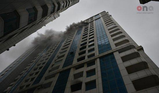 Bakıda yanan binadan - Son Görüntülər - VİDEO - FOTOLAR
