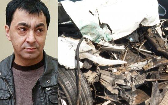 Aslan Huseynovun qezaya dushduyu avtomobili - Video