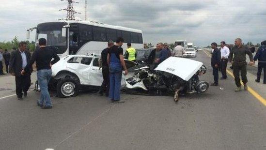 Bakı-Qazax magistralında yol qəzası baş verib