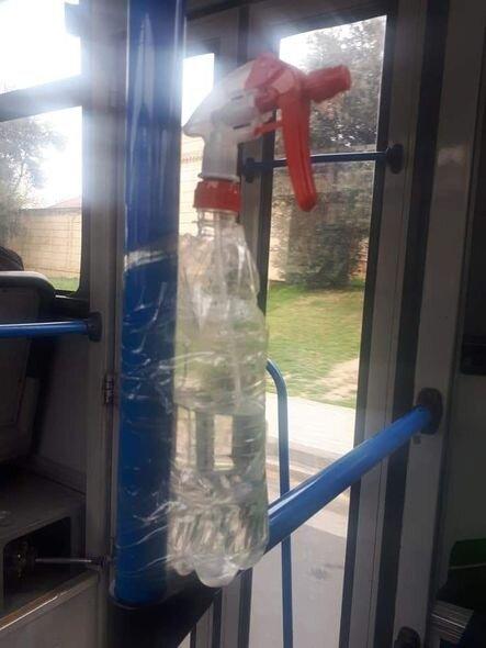 Bakıda avtobusda biabırçı görüntü - FOTO